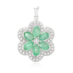 Socoto-Smaragd-Silberanhänger