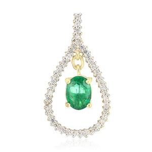 AAA-Brasilianischer Smaragd-Goldanhänger