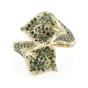 Smaragdgrüner Diamant-Goldring
