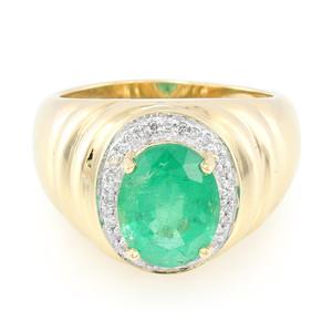 Äthiopischer Smaragd-Goldring