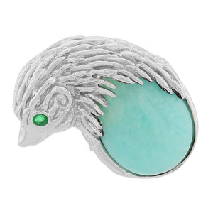 Amazonit-Silberanhänger