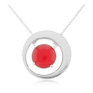 Dominikanischer Roter Bernstein-Silbercollier